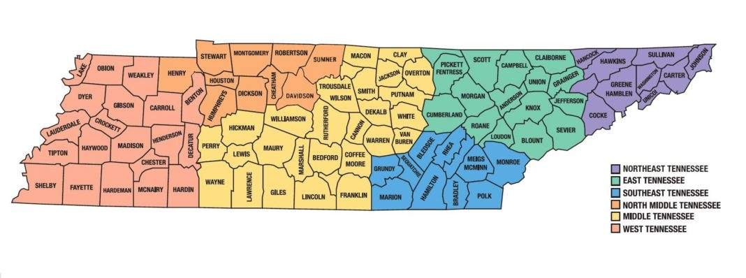 Much History Buried in Facts About Tennessee Counties